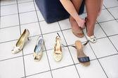 Passande skor — Stockfoto