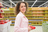 Young woman in shop — Stock Photo