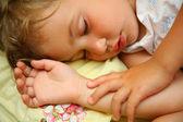 睡着的孩子 — 图库照片