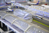 Model of airport — Stock Photo