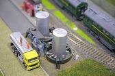 Car, tank, railway, miniature — Stock Photo