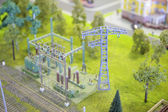 Model of electric substation — Stock Photo