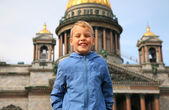 Boy in Sankt-Petersburg — Foto de Stock
