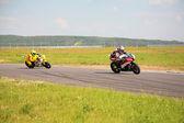 Motocyklový závod — Stock fotografie