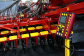 Control panel of agricultural harrow — Stock Photo