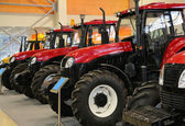 Tractors on exhibition — Stock Photo