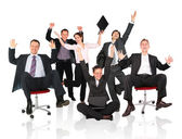 Happy business team chair — Stock Photo