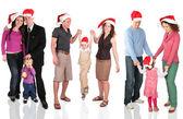 Många jul familjer — Stockfoto