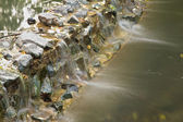 Water flowed through stones — Stock Photo