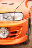 Orange sport car — Stock Photo