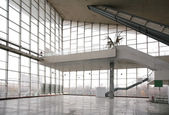 Glass hall with ladder — Stock Photo