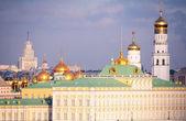 View on Big Kremlin palace and Ivan's belltower Great — Stock Photo
