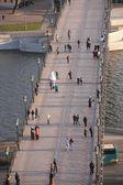 Na lávce řeku moskva — Stock fotografie