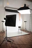 Photographic studio interior — Stock Photo