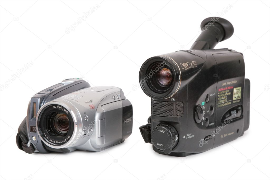 HDV and analog video cameras — Stock Photo #7440226