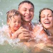Royalty-Free Stock Photo: Happy family in sea