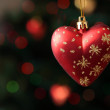Christmas-tree decoration in form of heart — Stock Photo #7450048