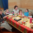 Stock Photo: Family supper