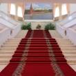 Stairway inside luxury apartments — Stock Photo