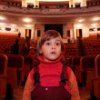 Child in theater — Stock Photo #7450233