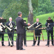 Brass band in park - Stock Photo