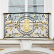 Baroque lattice on  facade of house — Stock Photo