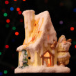 Toy small house with Santa Claus — Stock Photo