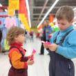 Stock Photo: Children in supermarket