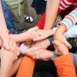 Children have crossed hands - Stock Photo