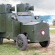 russian armored car in military show from first world war — Stock Photo