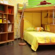 Children room with double bed — Stock Photo