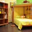 Children room with double bed - Stock Photo