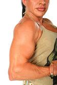Mulher fisiculturista — Fotografia Stock