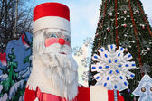 Father Frost model in park — Stock Photo