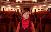 Child in theater — Stock Photo