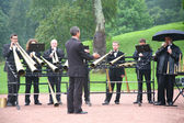 Brass band in park — Stock Photo