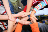 Children have crossed hands — Stockfoto