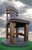 巨大的木椅 — 图库照片