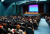 Na conferência — Foto Stock