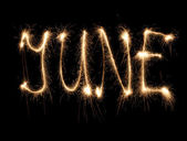 Alphabet sparkler (see other letters in my portfolio) — Stockfoto