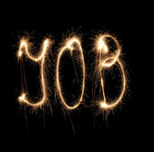 Alphabet sparkler (see other letters in my portfolio) — Stock Photo