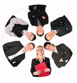 Circle business collage — Stock Photo