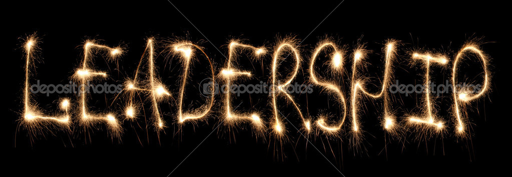 Word leadership written sparkler  Stock Photo #7451404