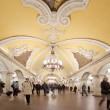 Moscow, Russia, March 23, 2010: Metro station Komsomolskaya with — Stock Photo