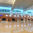 Airport interior hall with reflection on floor general view — ストック写真
