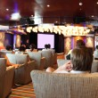 Group of at cruise liner cinema looking at screen view fr — Stock Photo #7936542