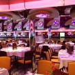 restaurant with bright multicolored interior general view — Stock Photo