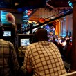 Two video operators controlling camerat performance show — Stock Photo #7936660