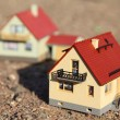 Models of houses - Stock Photo