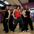 Jump dancing collective - Stock Photo